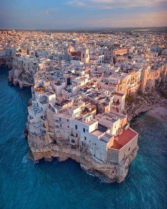 The amazing Polignano a Mare 😍 Bari, Italy.
