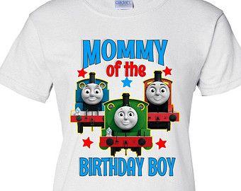 Thomas The Train Birthday Boys Mom Shirt Mommy Of Boy T