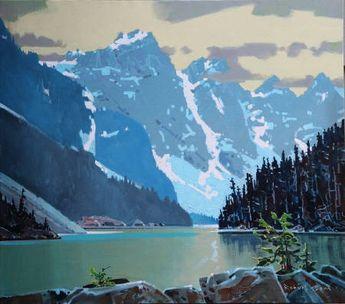 "Robert Genn "" Moraine Lake""."