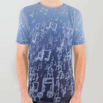 21aa4338 Buy Aquatic Chords All Over Graphic Tee by grandeduc. music, notes, sea,
