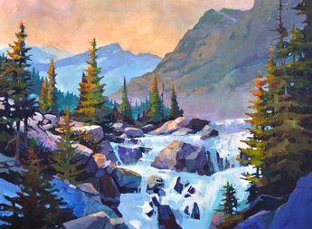"'Cool Runnings' 30"" x 40"" Acrylic on Canvas by Randy Hayashi"