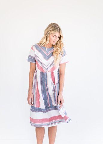 e362f34c504 Nantucket Striped Dress-JessaKae