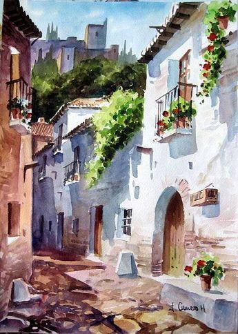 Watercolor By Jose Camero Hernandez - Art Collection