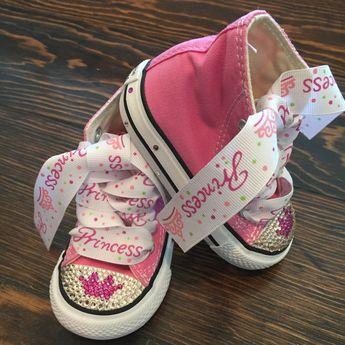 4a9771e295fa Princess bling Converse bling Converse by GirlieBlingByJess