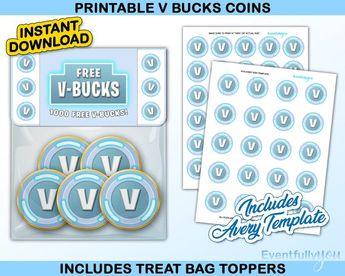 V Bucks Printable Template - Mark Lawton com