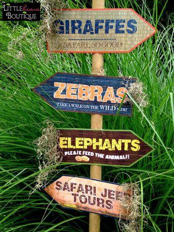 Printable Safari Jungle Signs DIY African Safari party | Etsy