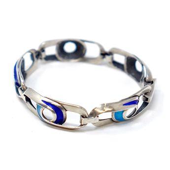 fc8342c60 Galerie du Louvre Antiques @galeriedulouvreantiques. 17w 0. Ottaviani  Sterling Silver Enamel Bracelet