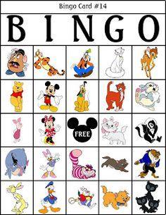 RobbyGurl's Creations - Disney bingo printables