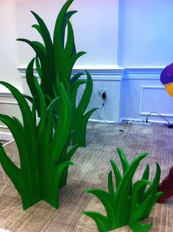 3D foamboard grass