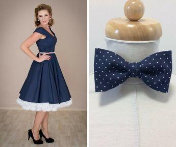 e7580612c18b ADELE retro šaty denim s puntíkem. lodičkový výstřih 3 4 rukáv kolová sukně  pásek