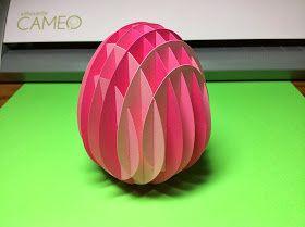Kirigami gratuit oeuf de Pâques 3D