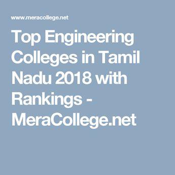 Top Engineering Colleges in Tamil Nadu 2018 with Rankings - MeraCollege.net