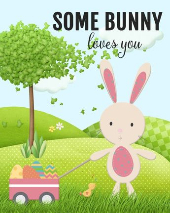 Some Bunny Loves You Free Easter Printable - Pretty My Party