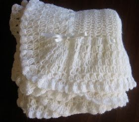 49fa0ba9eaa53 Victorian Crochet Baby Blanket #89 CCB
