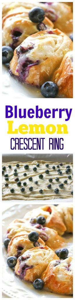 Blueberry Lemon Crescent Ring - an easy breakfast that's so good!! #blueberry #breakfast #recipe #lemon