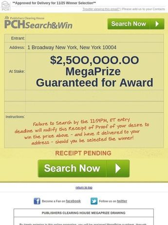 Claim my Prize Numbers Eligible to Win it all superprize En