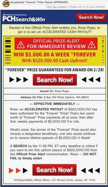 PCH WIN $2,500 a Week Forever - Enter PCH Sweepstakes