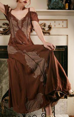 Titanic Tea Party Dress in Ash/Chocolate by Nataya
