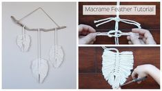 How To Make A Macrame Feather Wall Hanging - Tutorial For Beginners - YouTube