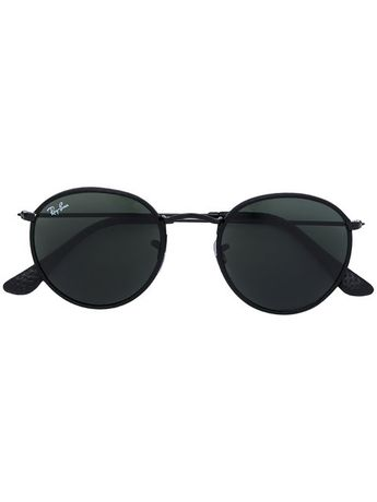 71b2b7768c589 Ray-Ban Gold Round Sunglasses ( 190) ❤ liked on Polyvore fe
