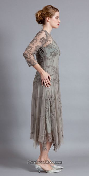 135 Nataya Tulle Silver Grey Dress _ Nataya - vintage dresses wedding dresses romantic dresses #wardrobeshop