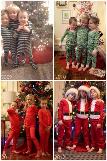 Holiday tradition. Night before Christmas picture in new pjs!