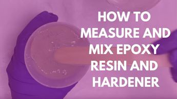How to measure and mix epoxy resin