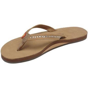 a9e7958175bb Sandals Women s Single Layer- Narrow Strap- White Crystal - Sierra -  CB111VBVNPF
