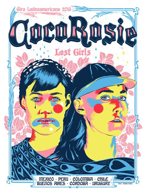 CocoRosie Tour Poster on Behance
