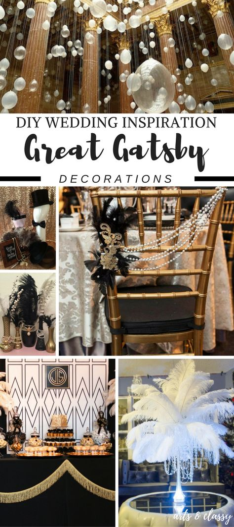 DIY Wedding : Great Gatsby Decor Ideas + Inspiration