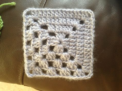 Granny Square 43 from When Granny Meets Filet.  #GrannySquare #hybrid #crochet #easypattern