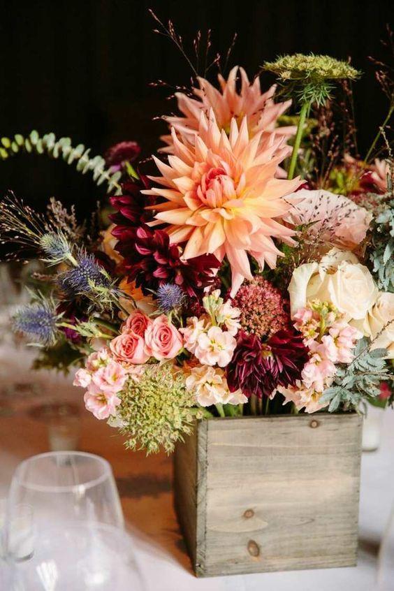 Décoration florale pour table - 30 idées romantiques pour mariages en automne