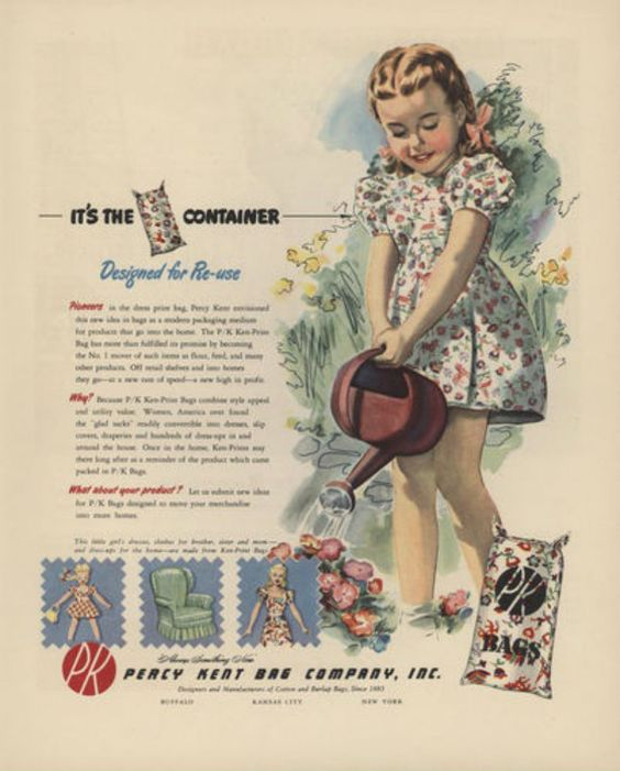 """The Thrifty And Colorful History Of The """"Feedsack Dress."""" 