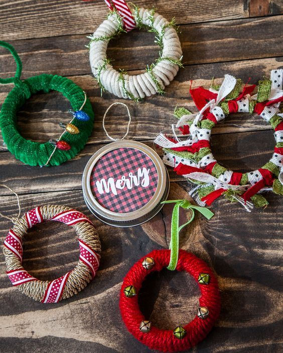 Mason Jar Ornaments