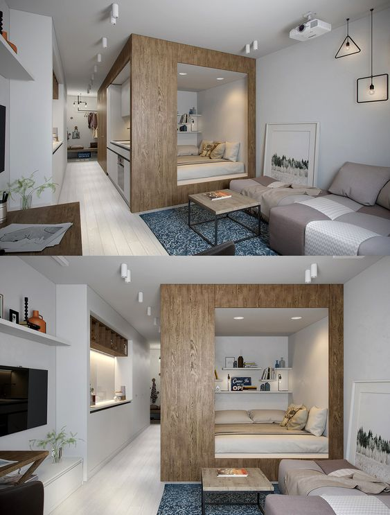 Home Designing — (via 2 Apartments Under 30 Square Metre – One...