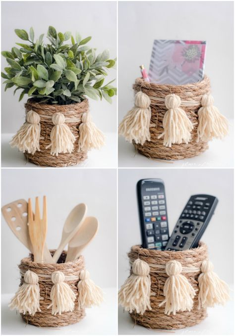 Have Lu make for Christmas gifts? I Heart Organizing: A Darling DIY Rope Basket