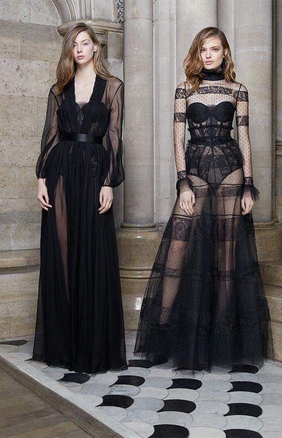 Love these black wedding dresses