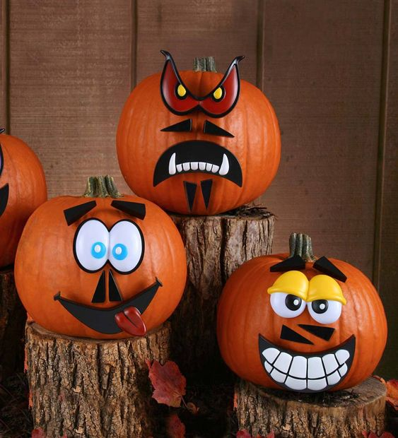 This four-face kit includes a total of 24 plastic-pegged pieces that kids can use to easily decorate their Halloween pumpkins. Have fun mixing and matching eyes, mouths, noses, and facial hair to create dozens of personalities that range from totally kooky to totally creepy!