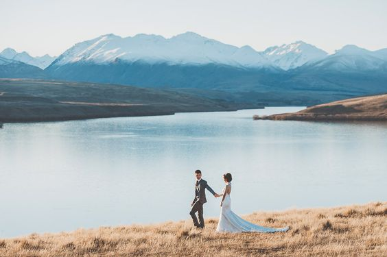New Zealand Pre-Wedding | South Island Lake Tekapo Pre-Wedding | LiRong & Don