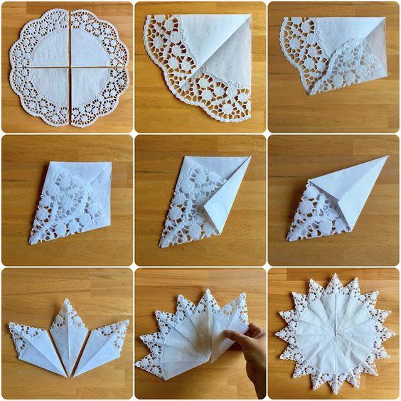 Friss szél: csipkés papírból készült csillag csillag
