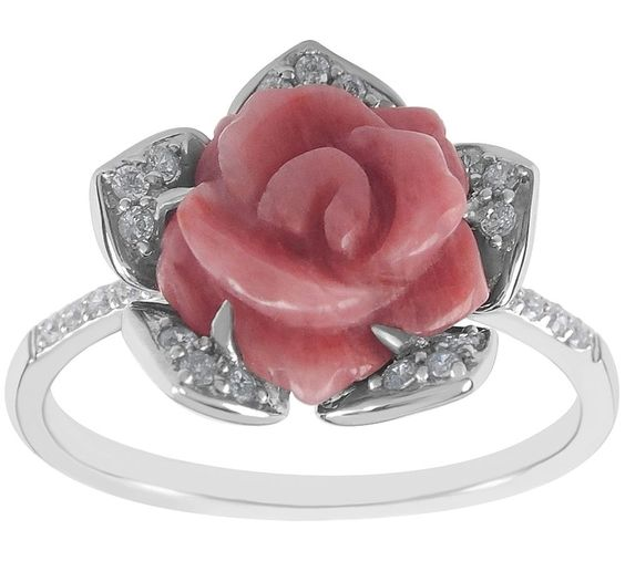 Rosy and bright, this rhodonite ring is an absolute delight. QVC.com