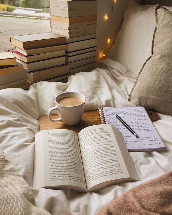 books on bed