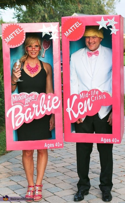 Elisa: My husband (Tim Holmes) and I are wearing the costumes. We came up with the idea because we have been called Barbie and Ken over the yearsbut thought we would...