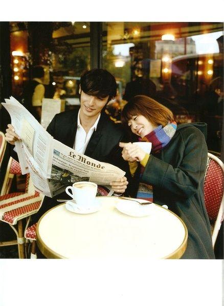 新聞を読む千秋とのだめの上野樹里