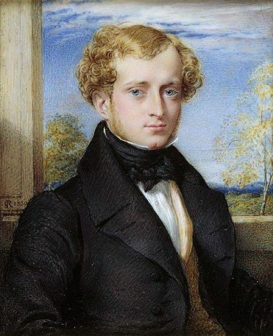 Portrait 1830 | 1830 Portrait of a Man watercolour and gouache on ivory (miniature) 10 ...