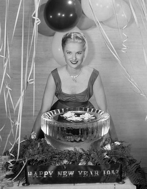 Martha Hyer; Hollywood New Year's publicity photo.