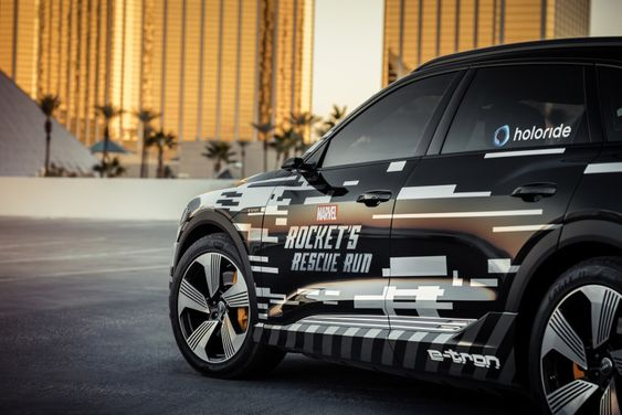 The CES 2019,Audi showcased it VR experience 'Rocket's Rescue Run' in collaboration with Marvel