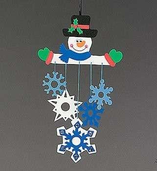 Lavoretti Natale per la scuola primaria - Lavoretto Natale per la scuola primaria: omino di neve