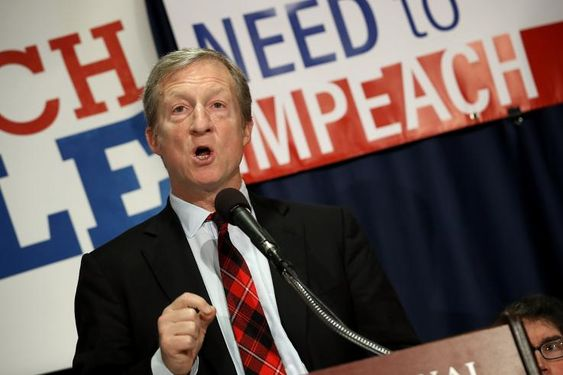 The billionaire founder of the Need to Impeach campaign Tom Steyer