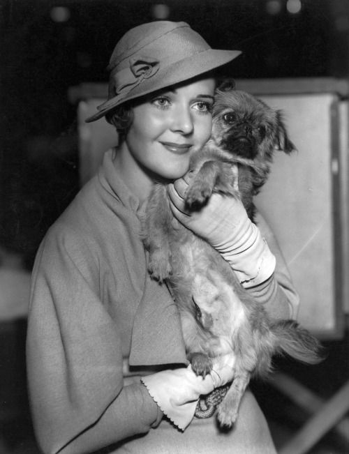 Ruby Keeler and a pekingese winner at dog show at the Ambassador Hotel in Los Angelesphoto by Bert Longworth, 1933